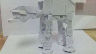 Star Wars Imperial Walker AT-AT Papercraft Model
