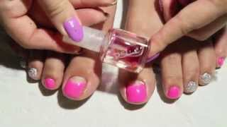 How to: Reverse French Nail Simple Gel Pedicure