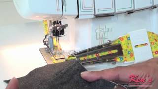 How to use the Brother SA225cv Double fold binder for 2340cv coverstitch machine