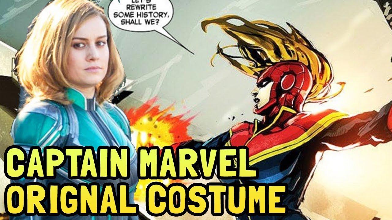 captain marvel movie green suit explained | original mar-vell comic suit
