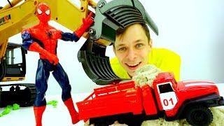 Человек Паук и Фёдор ищут машинки! – Видео с игрушками.