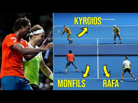 """Tennis """"Craziest"""" Doubles Match You've NEVER Seen Before! (Nadal & Monfils Facing Nick Kyrgios) - WivoRN Productions"""
