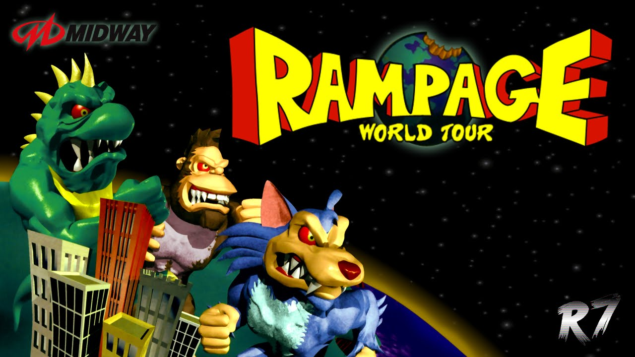 Rampage World Tour Arcade Longplay Hd 720p 60fps Youtube