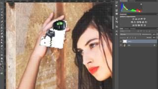 Photoshop CS6 ( Свободное трансформирование ).