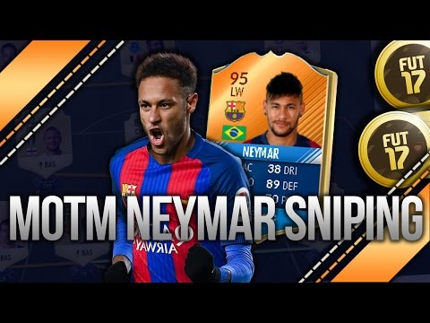 FIFA17 *NEW* NEYMAR & MOTM SNIPING! BEST SNIPING METHOD FOR *NEW* MOTM CARDS! *INSANE* PROFIT!