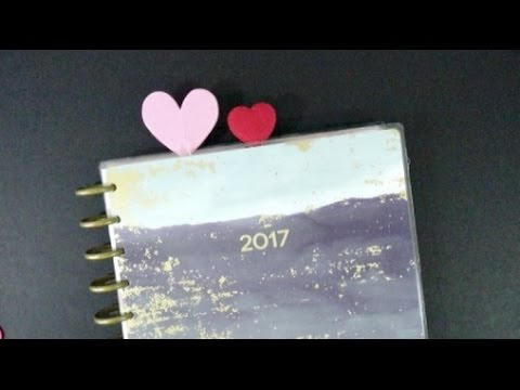 ee6c165010 DIY Paperclip Felt Hearts for your Planner! {AmyVLovely} - YouTube