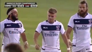 USA vs Canada rugby full match 13.02.2016 Americas Rugby Championship Round 2