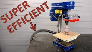 Very efficient diy dust collection for drill press drum sander
