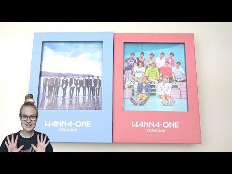 Unboxing Wanna One 워너원 1st Mini Album 1X1=1 (To Be One) [Sky & Pink Edition]
