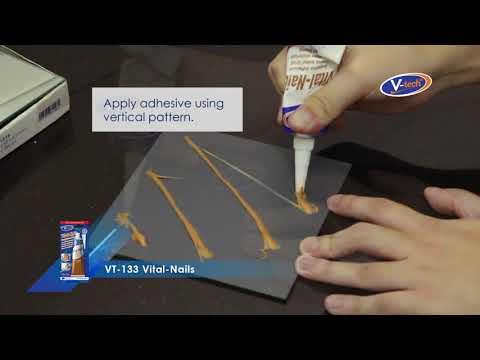 Permanently bonding mirror using V-tech Vital Nails (VT-133)