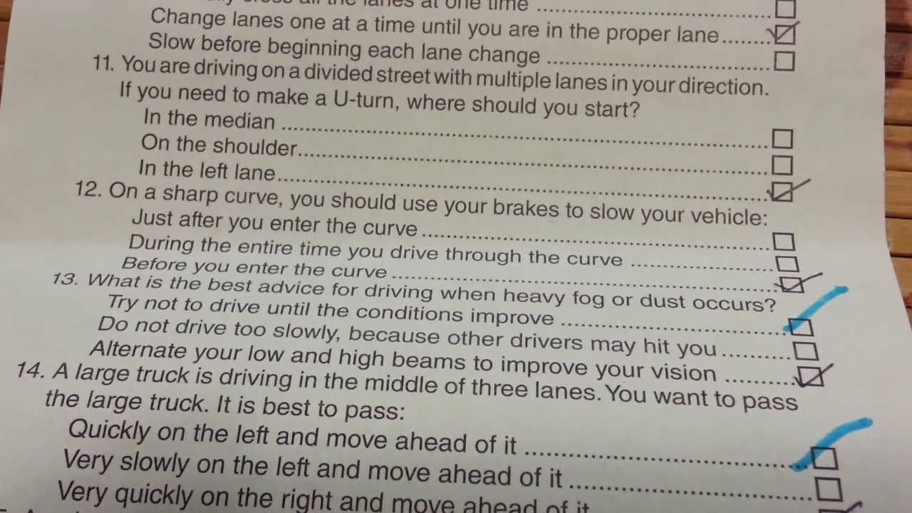 Drivers License Practice Test