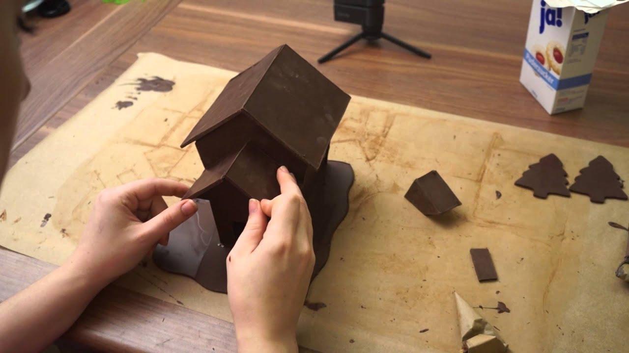 schokoladen hexenhaus haus aus kuvert re selber machen von kuchenfee youtube. Black Bedroom Furniture Sets. Home Design Ideas