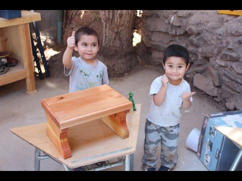 Fabricar banca de madera para niños