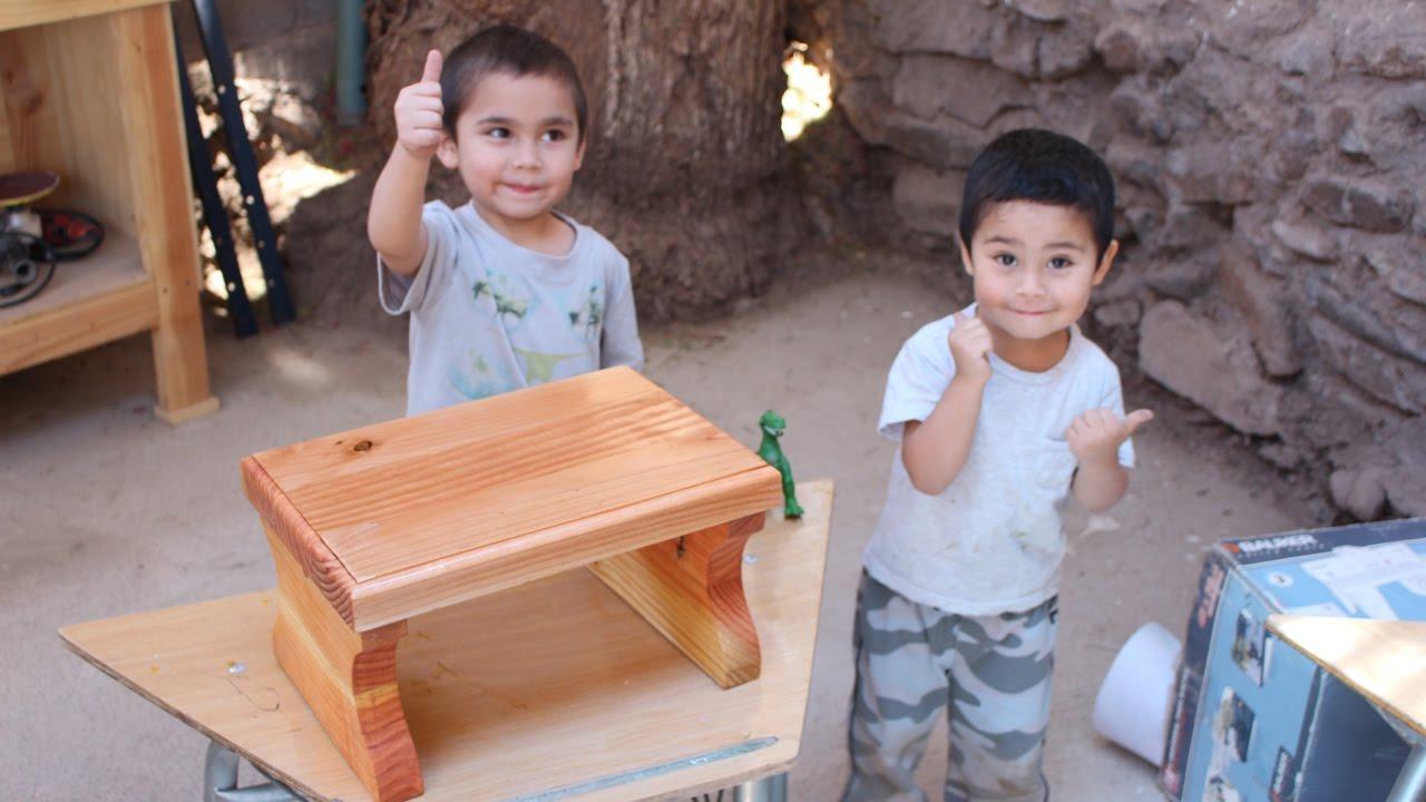 Fabricar banca de madera para ni os youtube - Como hacer bancos de madera ...
