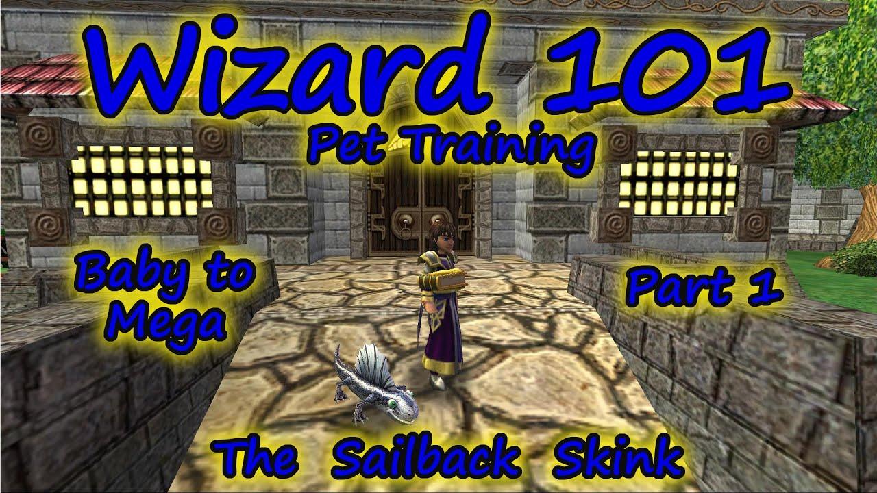 Wizard101 Pet Training Baby To Mega The Sailback Skink Part 1