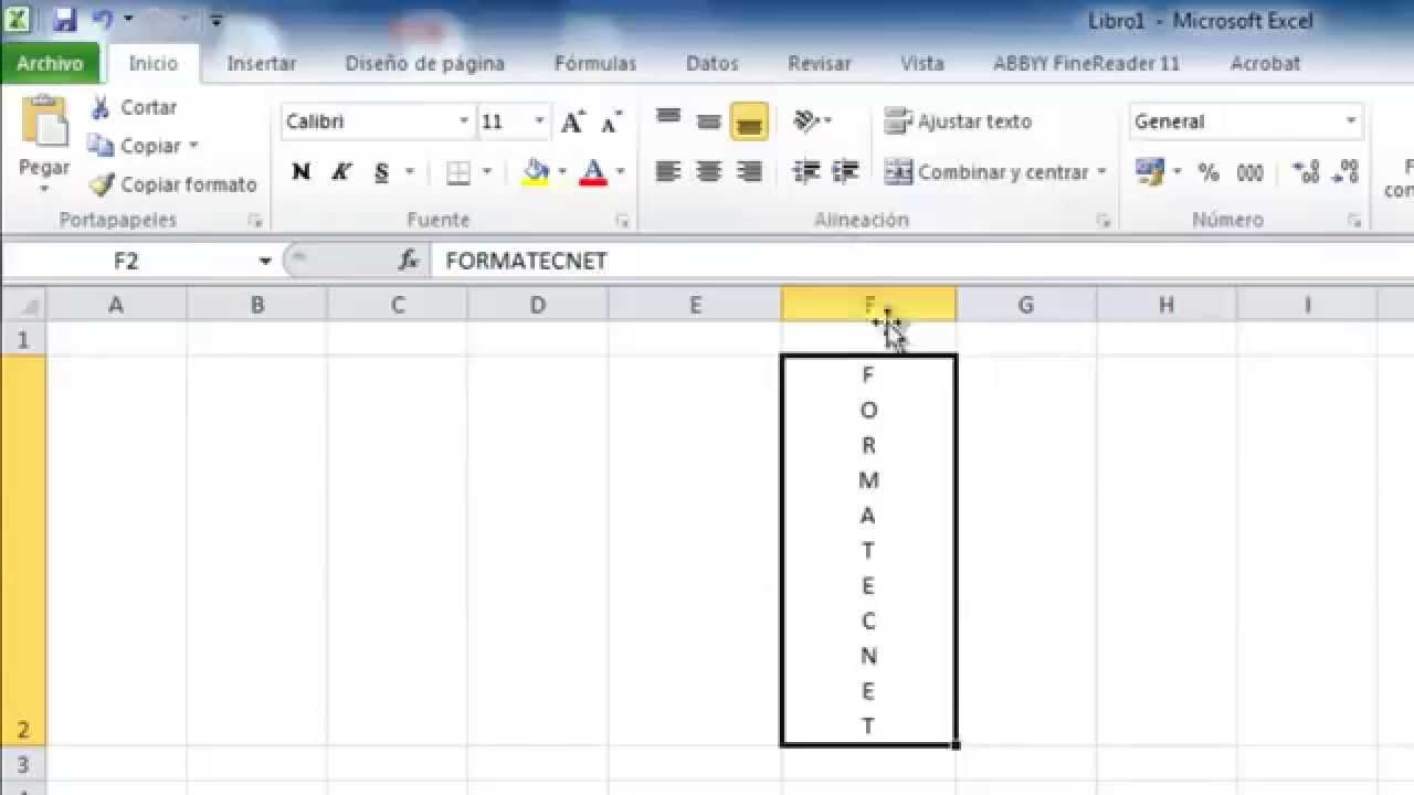how to turn word vetical in excel