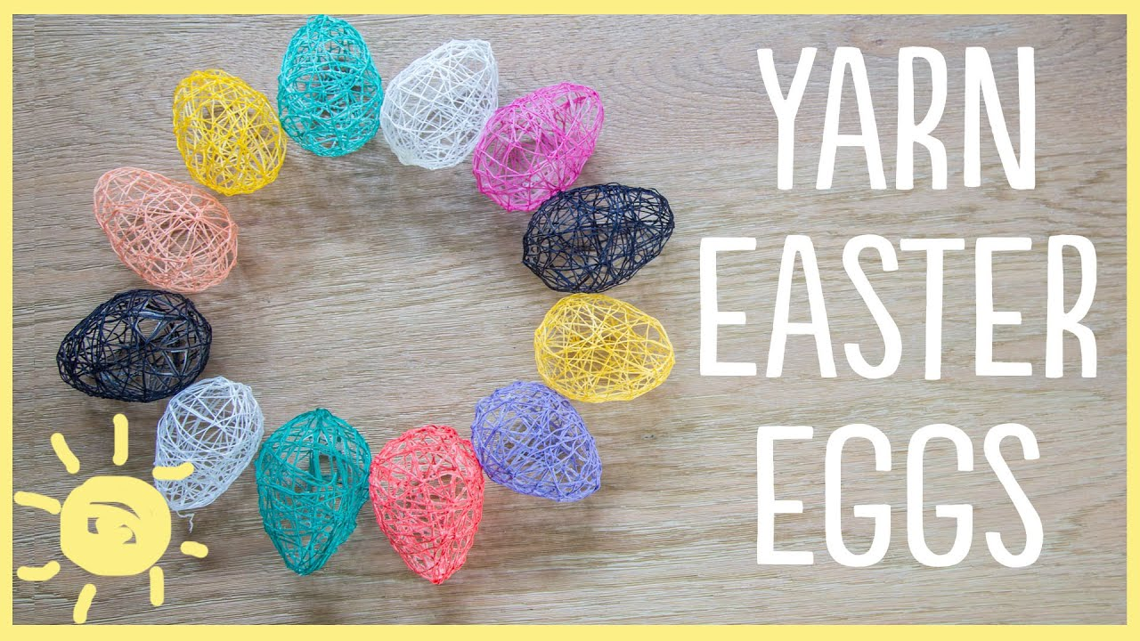 diy yarn easter eggs cute and easy youtube
