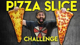 Can you finish the BIGGEST SLICE OF PIZZA [CHALLENGE]
