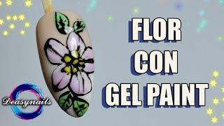 FLOR DE GEL PAINT decoracion de uñas sencilla Deasynails