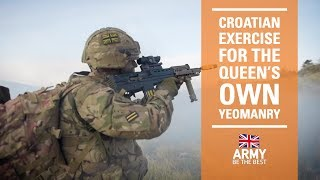 Back to basics in Croatia | Queen's Own Yeomanry | British Army