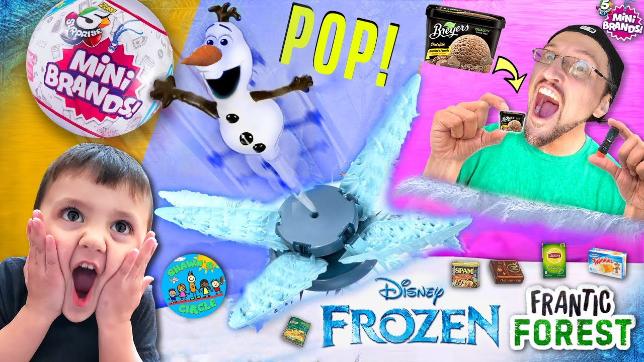 Shawn's Circle: MINI BRANDS & DISNEY FROZEN Olaf's Forest Surprise Game Challenge (DMF #10)