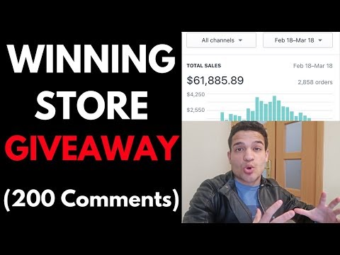 WINNING STORE GIVEAWAY 🔥 $61,885 in 30 Days Shopify Store Giveaway (200 Comments) thumbnail