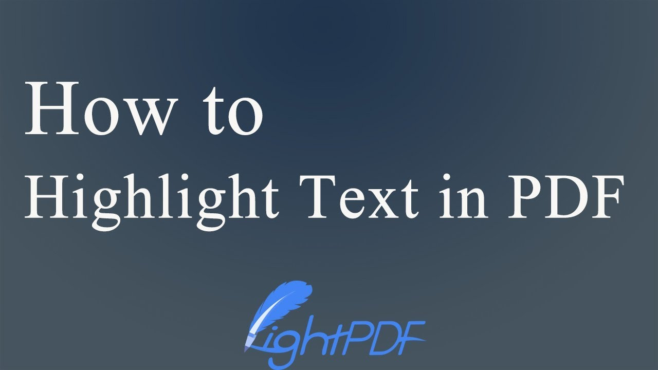 Simple and Effective Ways to Highlight Text in PDF
