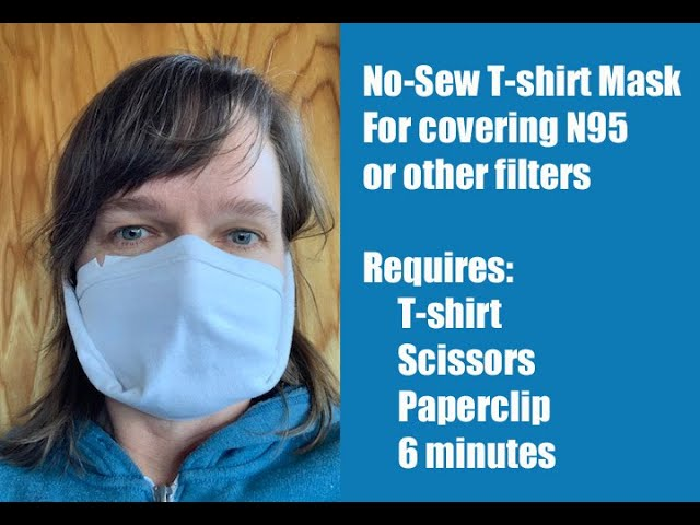 Best Fit No Sew Filter Pocket T-shirt Mask Making Instructions #janemask