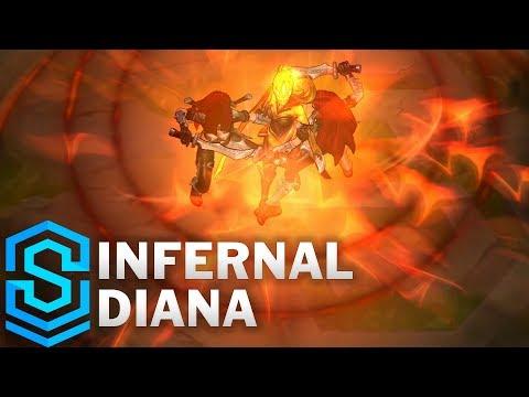 Infernal Diana (2019) Skin Spotlight - League of Legends