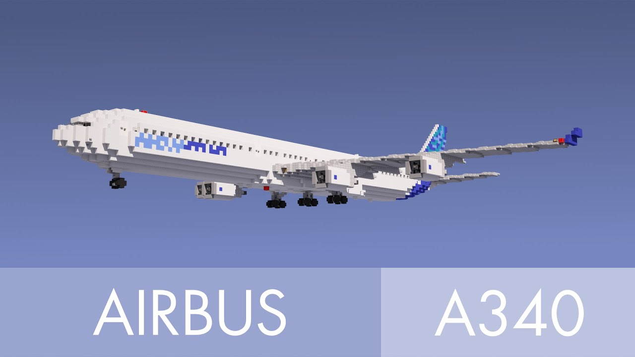 Free House Blueprints Minecraft Airbus A340 600 Youtube