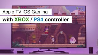 Use Apple TV like a console with Xbox One / PS4 Controller and Apple Arcade