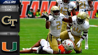 Georgia Tech vs. Miami Condensed Game | ACC Football 2019-20