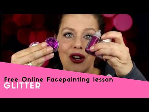Free Online Facepainting lesson 9 Glitter