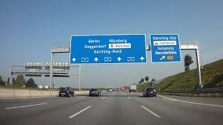 """Autobahn A9 from """"Kreuz München-Nord"""" to """"Ingolstadt-Nord""""."""
