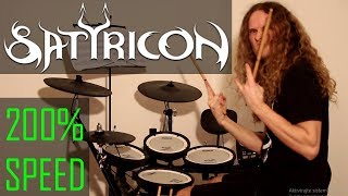 SATYRICON 200% SPEED drum cover - Faster drums by Bobnar Simon