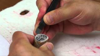 Design and Carve an Artist Name Seal for Watercolor Painter Tony Alderman