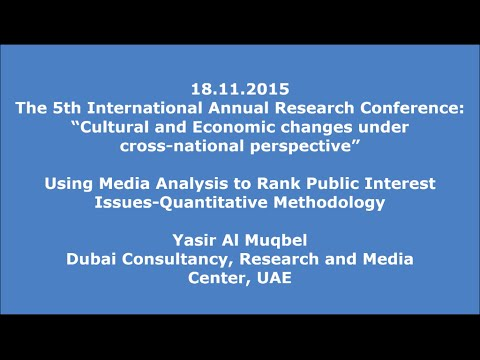 18.11.2015: Yasir Al Muqbel: Media Analysis to Rank Public Interest Issues-Quantitative Methodology