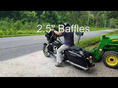 Rinehart Baffle Comparison, 2015 Harley Davidson Street Glide