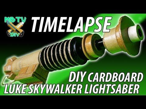Time lapse Luke Skywalker Diy Star Wars  Cardboard Lightsaber
