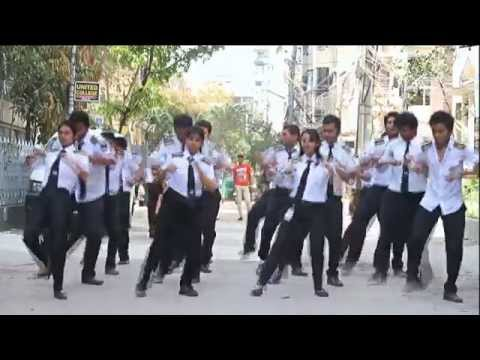 ICC T20 Worldcup 2014 Flash Mob ; United College Of Aviation, Science and Management