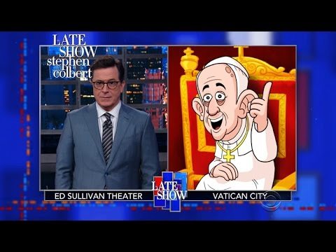 Cartoon Pope Francis Roasts Donald Trump