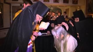 Монашеский постриг. Свято-Елисаветинский женский монастырь(28 декабря Высокопреосвященнейший Лука, архиепископ Запорожский и Мелитопольский после вечернего богослуж..., 2014-01-01T23:23:14.000Z)
