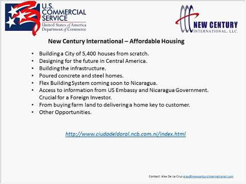 US Commercial Service Webinar on Design+Countries Opportunities in Nicaragua &  Guatemala