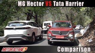 Tata Harrier vs MG Hector Comparison | Hindi | MotorOctane