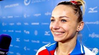 Maria Paseka (RUS) Interview - 2017 World Championships - Vault Final