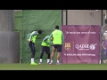 Messi and Suárez double of the laughter with Neymar: Jokes of birthday? - New 1018