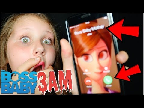 SCARY BOSS BABY'S MOM CALLED ME AT 3AM!! OMG SO CREEPY!!