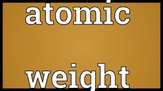 atomic mass and atomic number