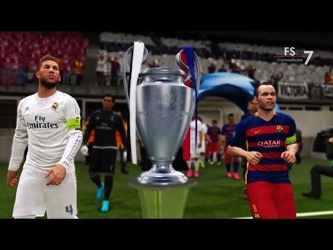 Real Madrid vs Barcelona - PES 2016 UEFA Champions League Final | EPIC COMEBACK HD