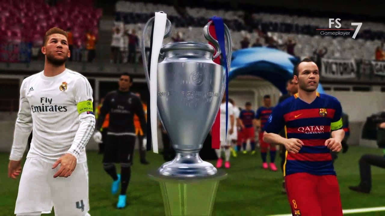 Real Madrid Vs Barcelona Pes 2016 Uefa Champions League Final